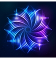 Bright shining blue neon spiral at dark cosmic vector image vector image
