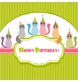 Birthday card with cats vector image