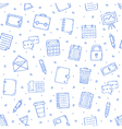 Office work pattern bllue icons vector image vector image