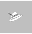cap computer symbol vector image