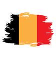 isolated belgian flag vector image