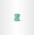 light green letter z logotype element design vector image
