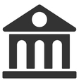 Museum Building Flat Icon vector image