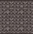 outlined smile emoticons set differents emoji vector image