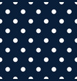 retro pattern with white polka dots on dark blue vector image