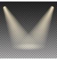 Scene illumination warm light effect vector image
