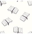 Sketched open book seamless pattern vector image