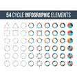 Big set of cycle elements for infographic vector image
