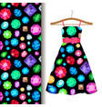 women dress fabric pattern with gems vector image