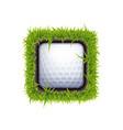 Golf ball icon vector image