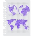 earth sketch vector image