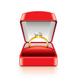 object ring box vector image vector image