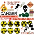 Radiation danger vector image