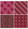 Set four geometric square seamless pattern vector image vector image