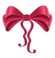 Silky bow design element vector image