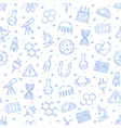 Science research pattern blue icons vector image