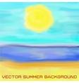 beach sea and sun vector image