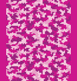 digital pink camouflage vector image