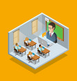 Online Learning Room Concept vector image