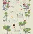 Go green city design vector image