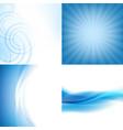blue backgrounds set vector image vector image