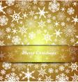 Christmas Card Snowflake Gold Invitation menu vector image