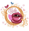 coffee love banner vector image