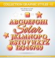 Solar Graphic Styles for Design use for decor text vector image