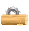 Processing log vector image vector image