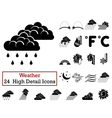 Set of 24 Weather Icons vector image