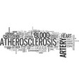 atherosclerosis word cloud concept vector image