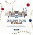 christmas travel to germany winter travel vector image