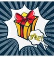 gift box in the style of pop art vector image