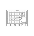 growth chart line icon vector image