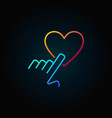 hand pointing heart colored outline icon or vector image