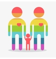 happy gay boy family rainbow icon vector image
