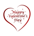 Happy Valentines Day lettering Greeting Card on vector image