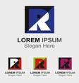 Letter R logo design sample icon vector image