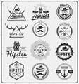 Set of hipster insignia logo design for logo vector image