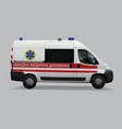 ukrainian ambulance special medical vehicles vector image