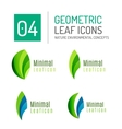 Green and blue color spring summer abstract leaf vector image