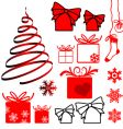 Christmas symbols vector image vector image