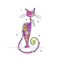 Art cat for your design vector image