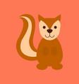 flat icon stylish background cartoon squirrel vector image
