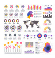 business strategy modern presentation infographic vector image vector image