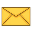 envelope icon cartoon style vector image