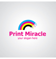 print miracle vector image vector image