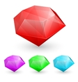 Set of gems vector image vector image