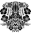 Abstract with flowers vector image