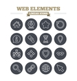 Web elements linear icons set Thin outline signs vector image